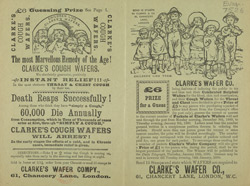 Advert For Clarke's Cough Wafers